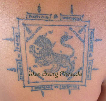 A tattooed Singh Sak Yant Tattoo