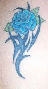 Blaue Rose Tattoo