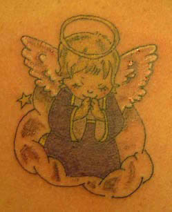 Angel with nimbus Tattoo