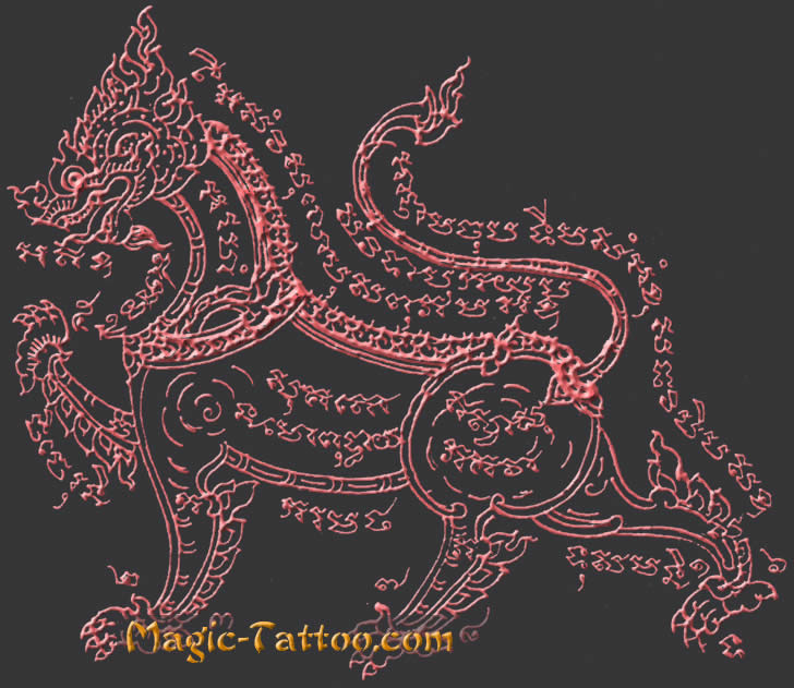 Sak Yant Tattoo template