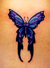 Long-tailed butterfly tattoo